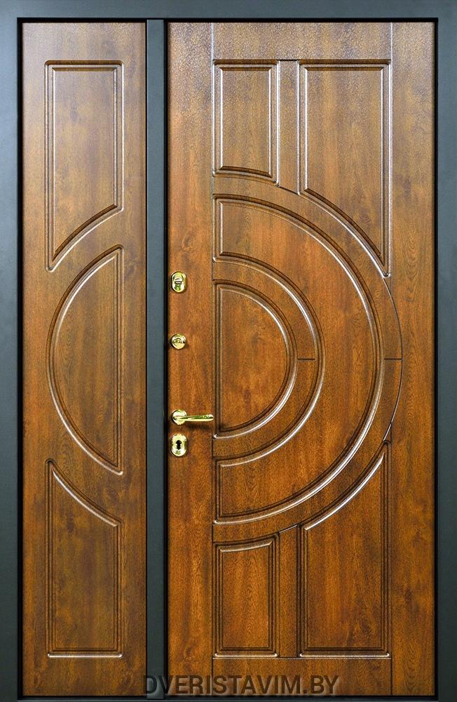 железная двустворчатая дверь в квартиру